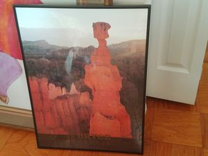 Bryce Canyon poster, framed in black for Sale in Washington, DC