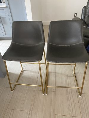 Gray Gold Bar Stool (2) for Sale in Charlotte, NC