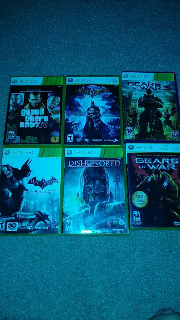 6 Xbox 360 games for sale