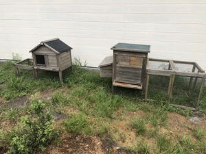 Pair of rabbit cages / chicken coop $100 for both or $75 each for Sale in Wesley Chapel, FL
