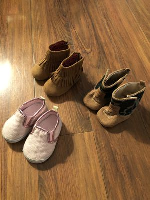 3 pair Infant Girl Boots/Shoes size 3 for Sale in White Bluff, TN
