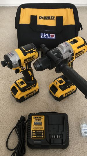 DeWalt 20volt XR Brushless Hammer Drill / Impact Driver 2-Tool Combo with 2 Batteries, Charger and Tool Bag for Sale in Hacienda Heights, CA