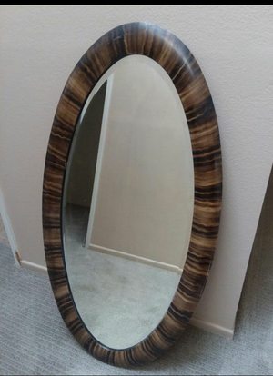 "Framed Oval Wall Mirror 23"" W x 45# H for Sale in Yorba Linda, CA"