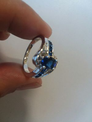 Pretty BLUE Stone CZ Ring for Sale in The Bronx, NY
