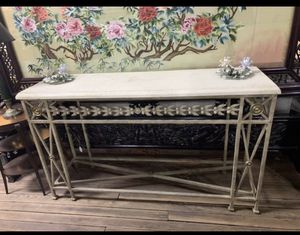 Stone top console table or sofa table for Sale in Beaver Falls, PA