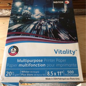 Xerox Vitality Copy Printer Paper 20 lb 1500 Sheets for Sale in Orlando, FL