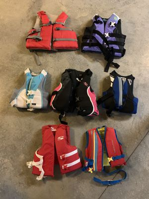 Seven Life Jackets for Sale in Colfax, NC