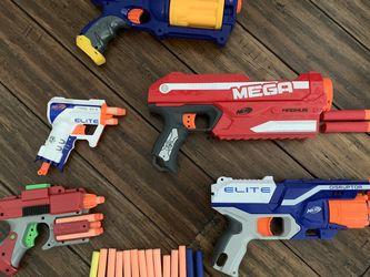 5 Nerf guns including 37 nerfs foam pellets for Sale in Snohomish,  WA