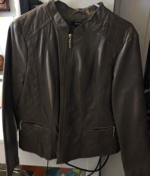 Alfani Light brown Faux Leather Jacket for Sale in Cary, NC