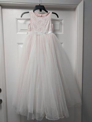 Beautiful flower girl dress - Whisper Pink (SIZE 7) for Sale in Pembroke Pines, FL