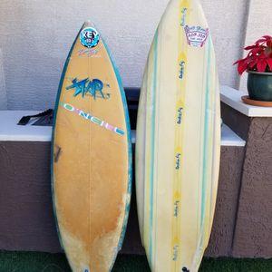 Surfboard Rockin Fig & O'Neill Star Fixer Upper Or Pool Landscape Surf Board Diy for Sale in Gilbert, AZ