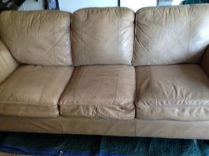 Leather Couch for Sale in North Royalton, OH