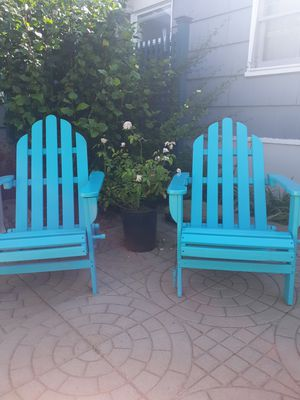FOLDABLE CLASSIC ADIRONDACK CHAIRS $80 EACH for Sale in San Diego, CA
