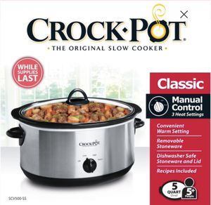 New: Crock-Pot Stainless Steel 5 Quart Slow Cooker for Sale in Tamarac, FL