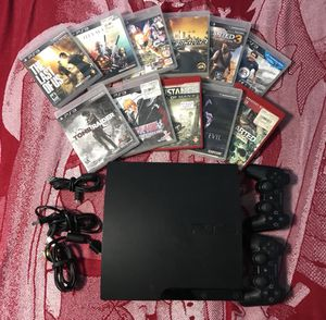 PS3 with games and controller for Sale in Rockville, MD