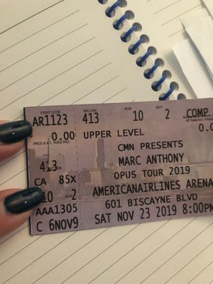 Marc Anthony Tickets 2 11/23/2019 at 8 for Sale in Miami, FL