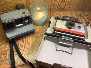 Two vintage Polaroid cameras for Sale in Peoria, IL