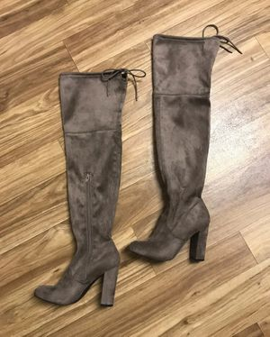 Over the knee suede boots 👢 for Sale in Westport, WA