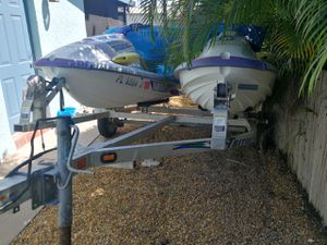2 Yamaha 1996 Jet skies and trailer-aluminum for Sale in Biscayne Park, FL