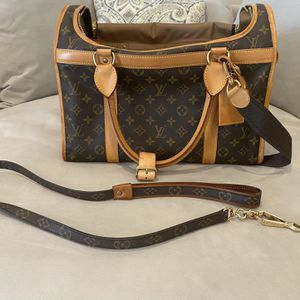 Vintage Louis Vuitton Sac Chien 40 Dog Carry Bag Monogram with matching Leash for Sale in Pompano Beach, FL