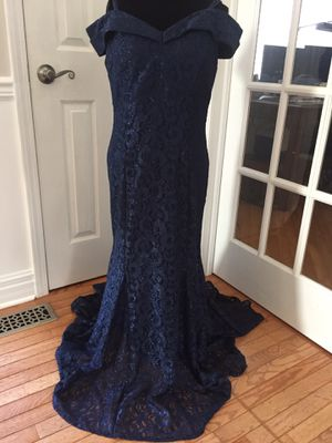 Blue glitter gown size 14 for Sale in Jackson Township, NJ