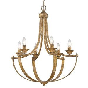 Victoria 6-Light Candlestick Heirloom Gold Chandelier by Golden Lighting NEW for Sale in Plantation, FL