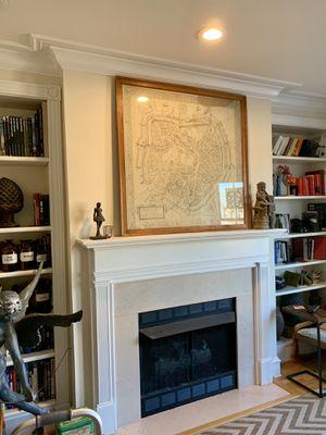 Vintage Style Map Of Munster Westphalia, Framed Under Glass for Sale in Alexandria, VA