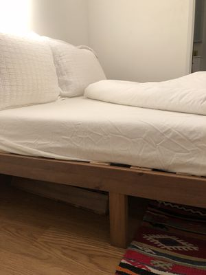 Wooden Bedframe, Mattress, TV Stand! for Sale in Jersey City, NJ