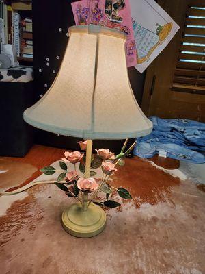 Lamp hummingbird rose metal vintage antique for Sale in Dallas, TX