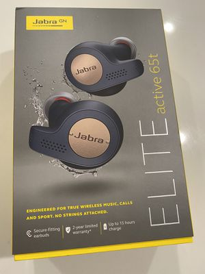 Jabra Elite 65t Earbuds – Alexa Built-In, True Wireless Earbuds with Charging Case, Navy Blue – Bluetooth Earbuds Engineered for the Best True W for Sale in Columbus, OH