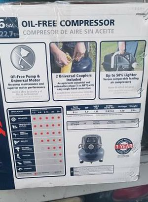 Oil free compressor 6 gal for Sale in Las Vegas, NV