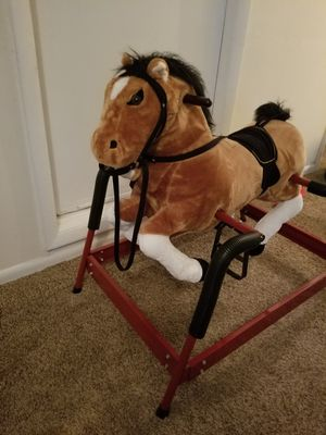 Rocking/spring plush horse for Sale in Virginia Beach, VA
