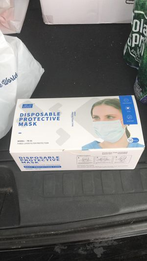 Disposable face mask 50pcs for Sale in Brooklyn, NY