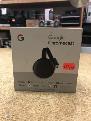 Google Chromecast (3rd Generation) Streaming Media Player - Charcoal for Sale in Baltimore, MD