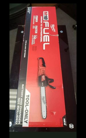 """MILWUAKEE M18 FUEL BRUSHLESS 16""""IN CHAINSAW TOOL ONLY BRAND NEW for Sale in San Bernardino, CA"""