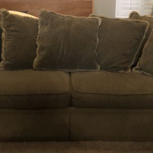 Brown Fabric Couch Two Cushion Z Gallerie for Sale in Scottsdale, AZ