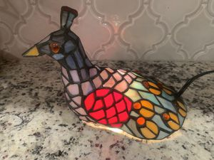 Stained Glass peacock lamp | night light for Sale in Siler City, NC