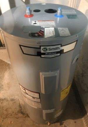 Brand new 40-50 gallon AO Smith electric water heater. Comes with 6 year manufacturers warranty. Can be installed or delivered or a fee for Sale in Philadelphia, PA