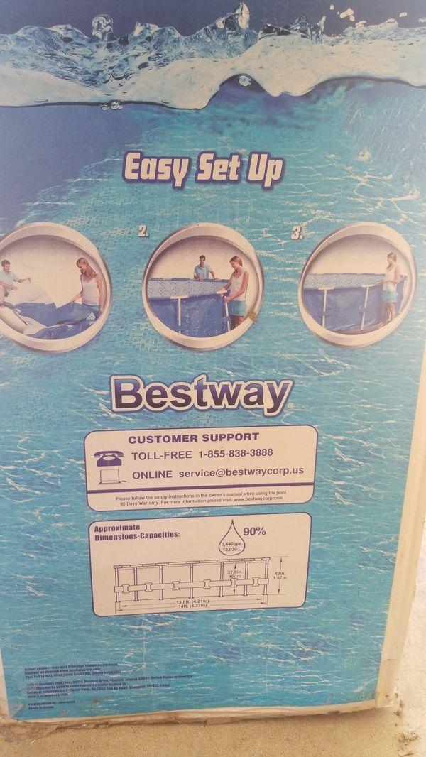 (BRAND NEW) Bestway 14ft./4.27 steel pro frame pool