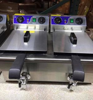 Electric Double Deep Fryer for catering/party events/ personal usage for Sale in Chino, CA