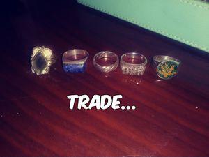 Sterling sliver 925 and semi precious/precious stone rings for Sale in Dallas, TX