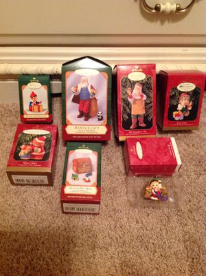 Hallmark Christmas Ornaments. New in box. Seven Pieces. for Sale in Garland, TX