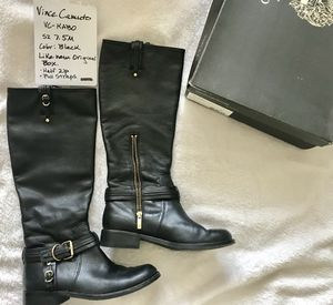 Vince Caputo Black Leather Boots for Sale in Chicago, IL
