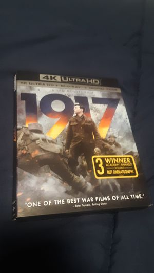 1917 4K ULTRA HD + Bluray +DIGITAL Code for Sale in Carmichael, CA