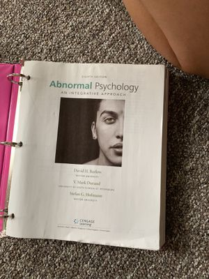 Abnormal Psychology an Integrative Approach for Sale in Bay City, MI