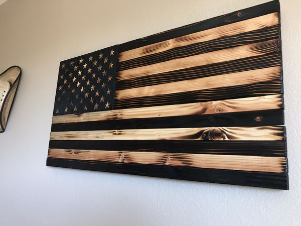 Rustic Wooden Flag