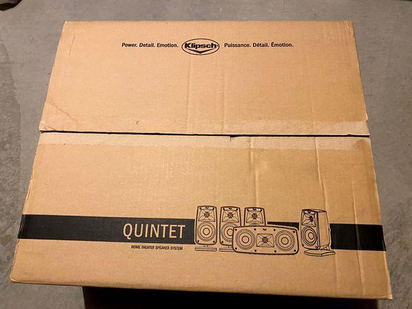 Klipsch Quintet IV Home Theater Speaker System (1010440) Brand New