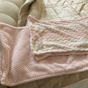Super Soft Baby Girl Blankets 2 For The Price Of One! for Sale in Palos Verdes Peninsula, CA