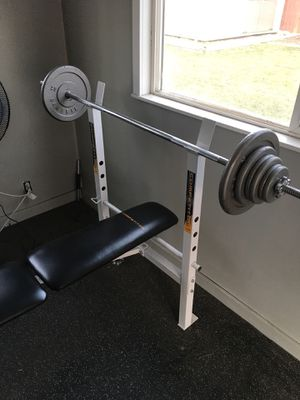 Bench and 120 lbs of weight! for Sale in Salt Lake City, UT