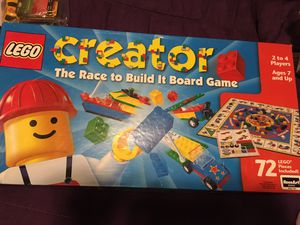 LEGO CREATOR THE RACE TO BUILD BOARD GAME for Sale in Wilmington, DE
